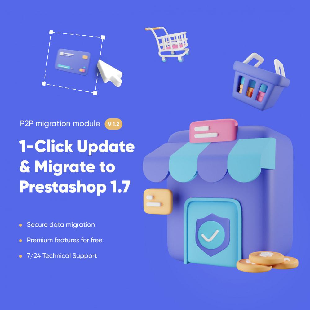 module - Migración y Copias de seguridad - 1-Click Upgrade and Migrate Tool to Prestashop 1.7 - 1
