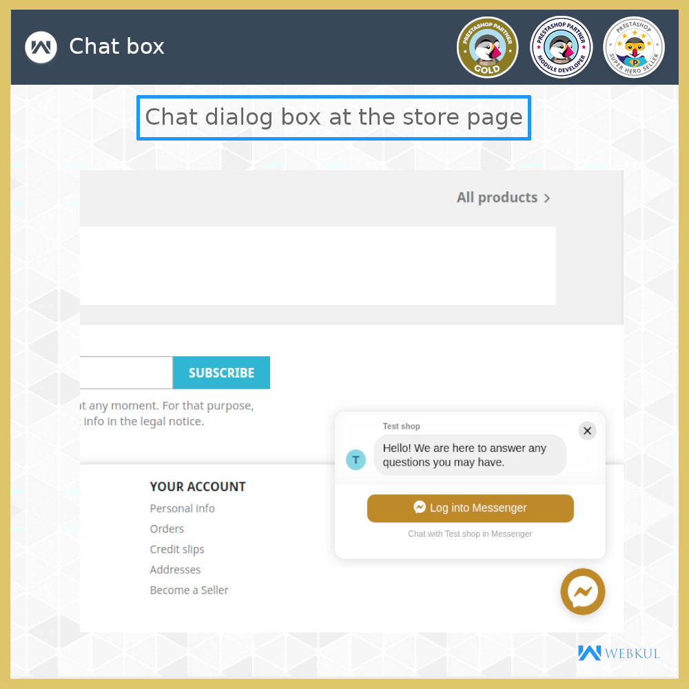 module - Products on Facebook & Social Networks - Messenger | Social Live Chat - 3