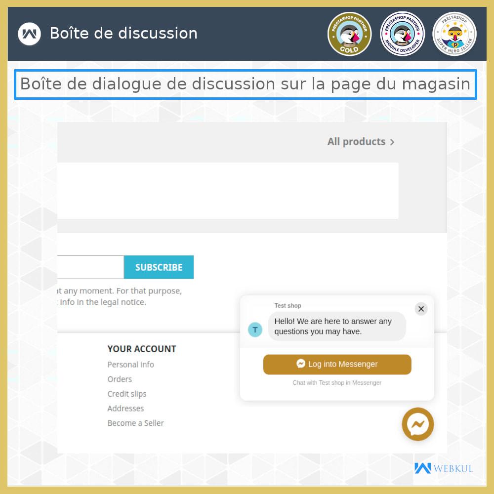 module - Produits sur Facebook & réseaux sociaux - Messager   Sociaux Chat en Direct - 1
