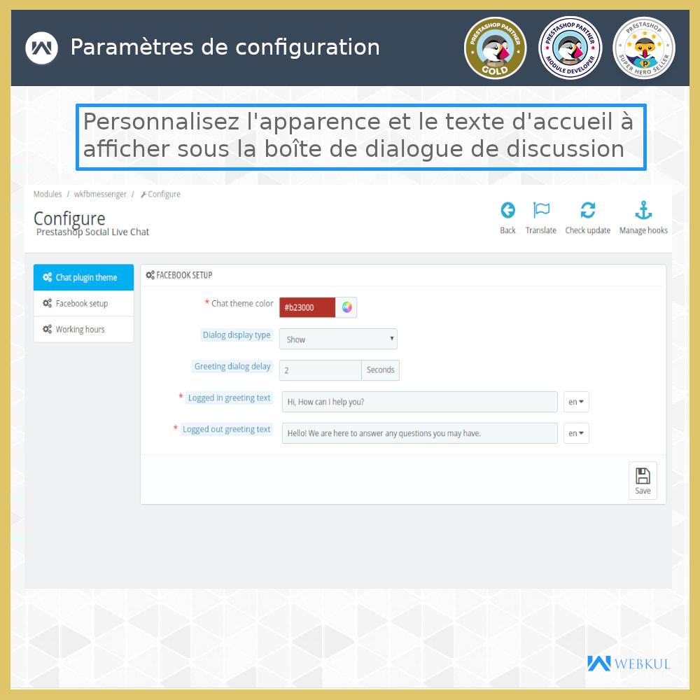 module - Produits sur Facebook & réseaux sociaux - Messager   Sociaux Chat en Direct - 2