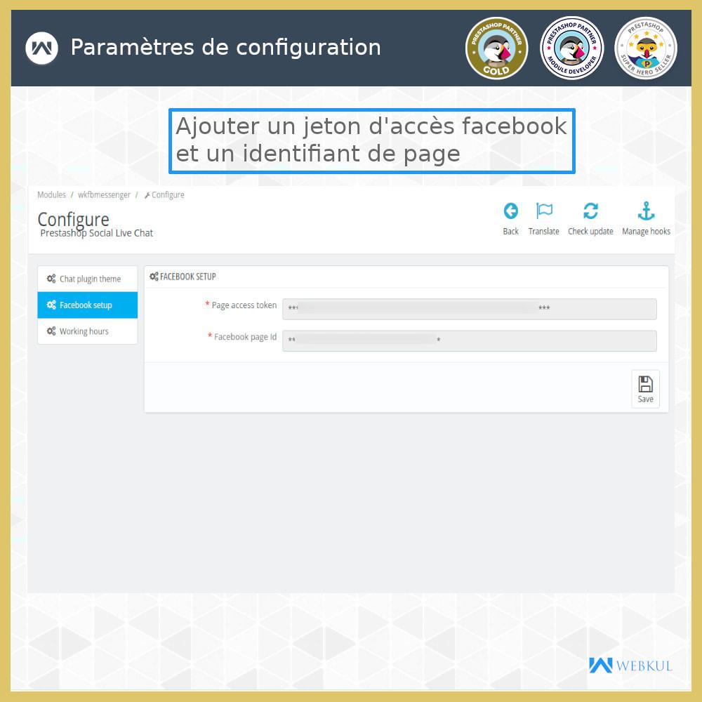 module - Produits sur Facebook & réseaux sociaux - Messager   Sociaux Chat en Direct - 3
