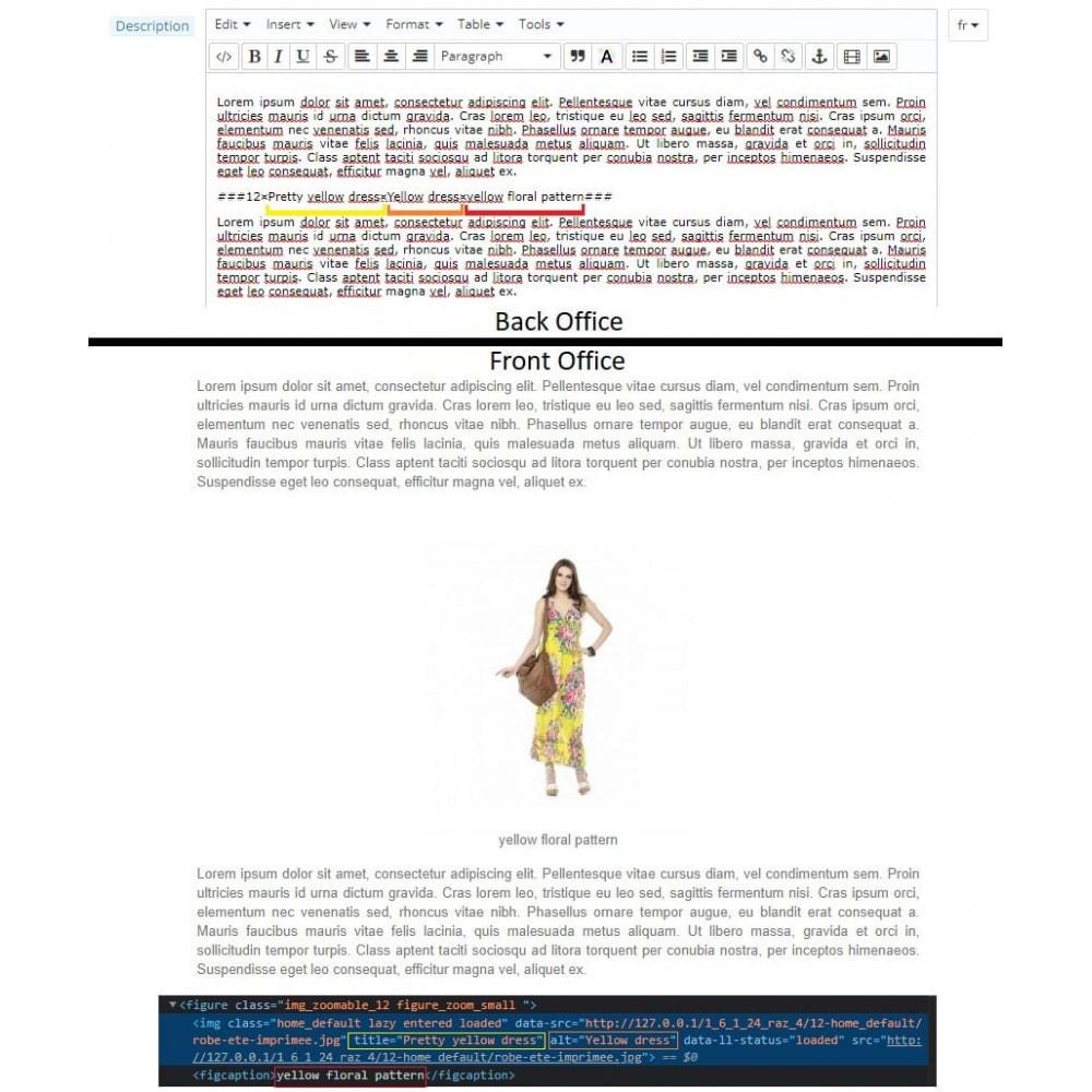 module - SEO (Posicionamiento en buscadores) - Product images in descriptions and CMS - 4