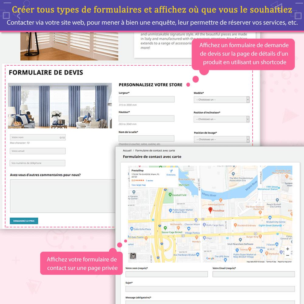 module - Formulaires de Contact & Sondages - Contact Form Ultimate – Générateur de formulaires - 4