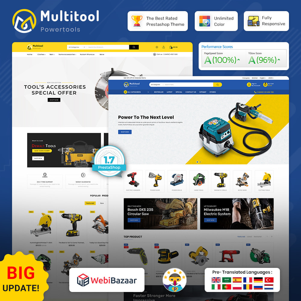 theme - Carros & Motos - Multitool - Mega Power Tool Store - 1