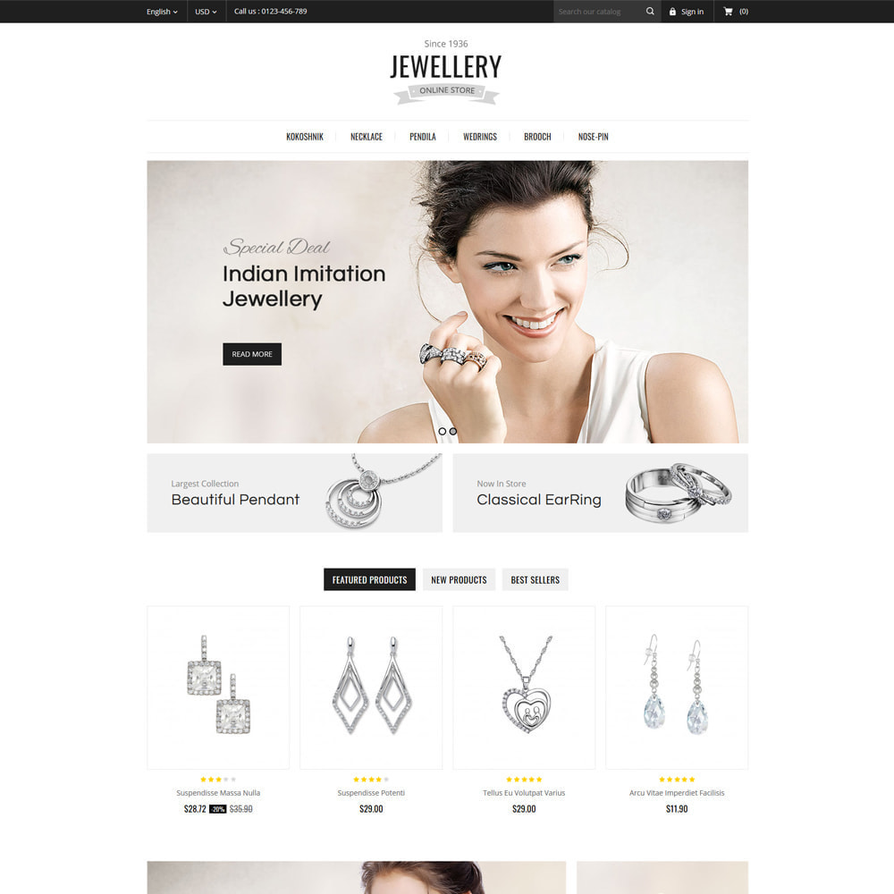 theme - Ювелирные изделия и Аксессуары - Jewelry & Accessories Store - 2