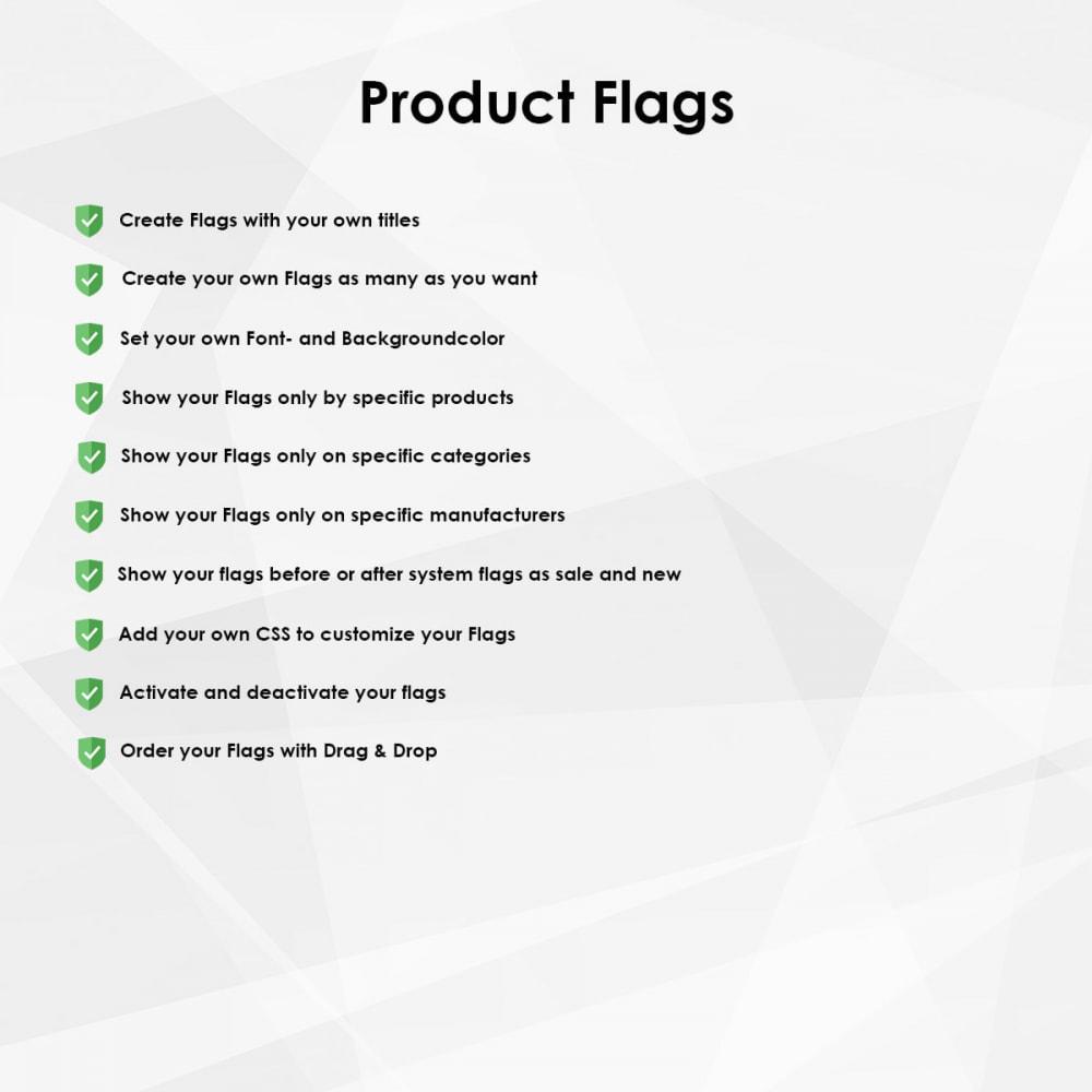 module - Déclinaisons & Personnalisation de produits - Flags/Badges/Labels for products - 1