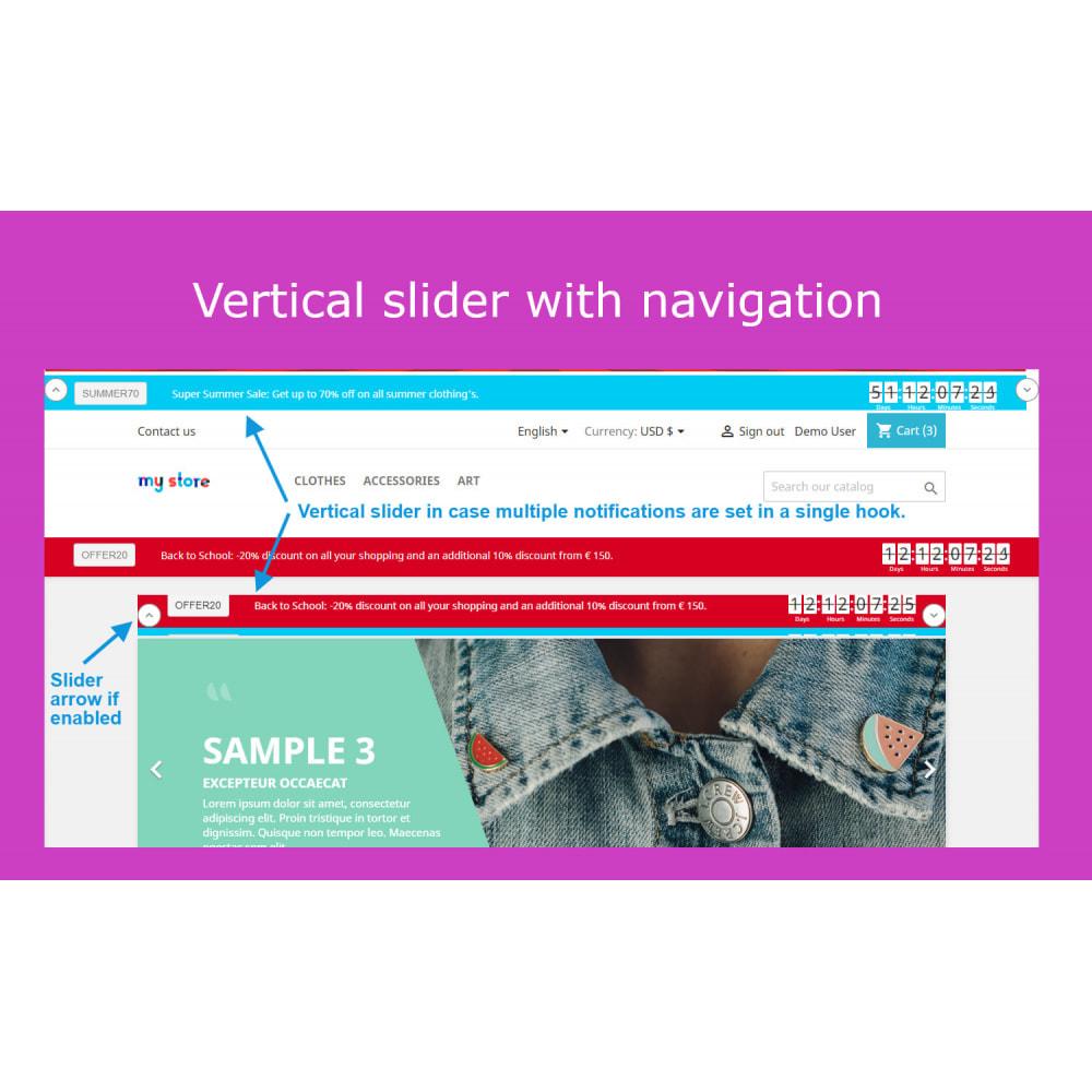 module - Sliders & Galleries - Advanced Ticker Notification Banner Slider - 6