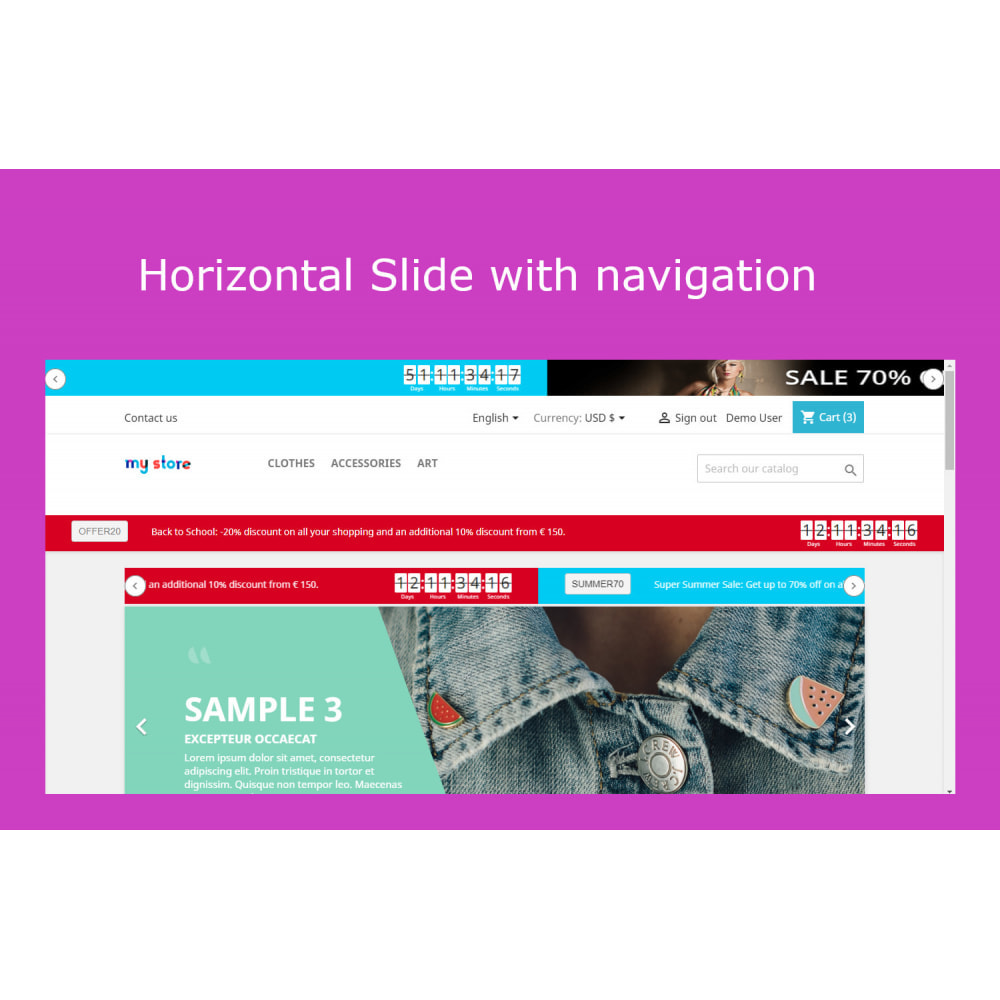 module - Sliders & Galleries - Advanced Ticker Notification Banner Slider - 7