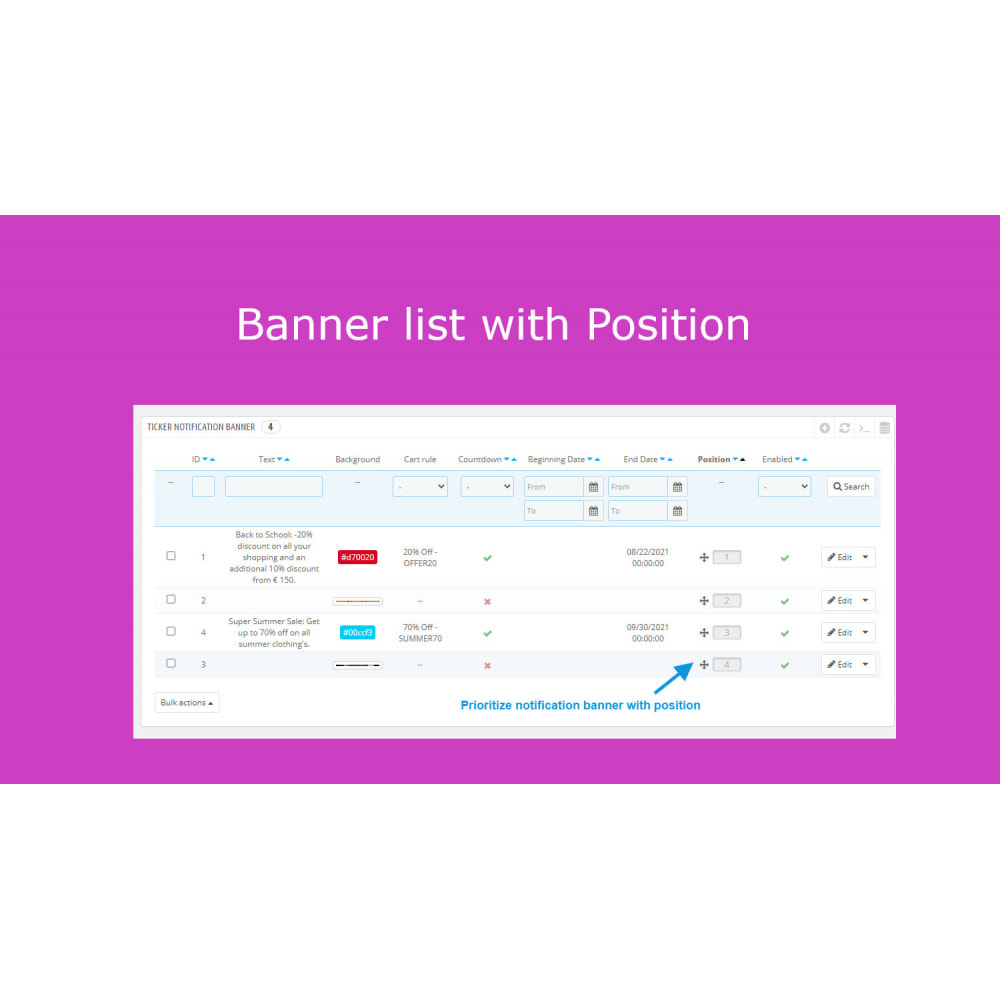 module - Sliders & Galleries - Advanced Ticker Notification Banner Slider - 9