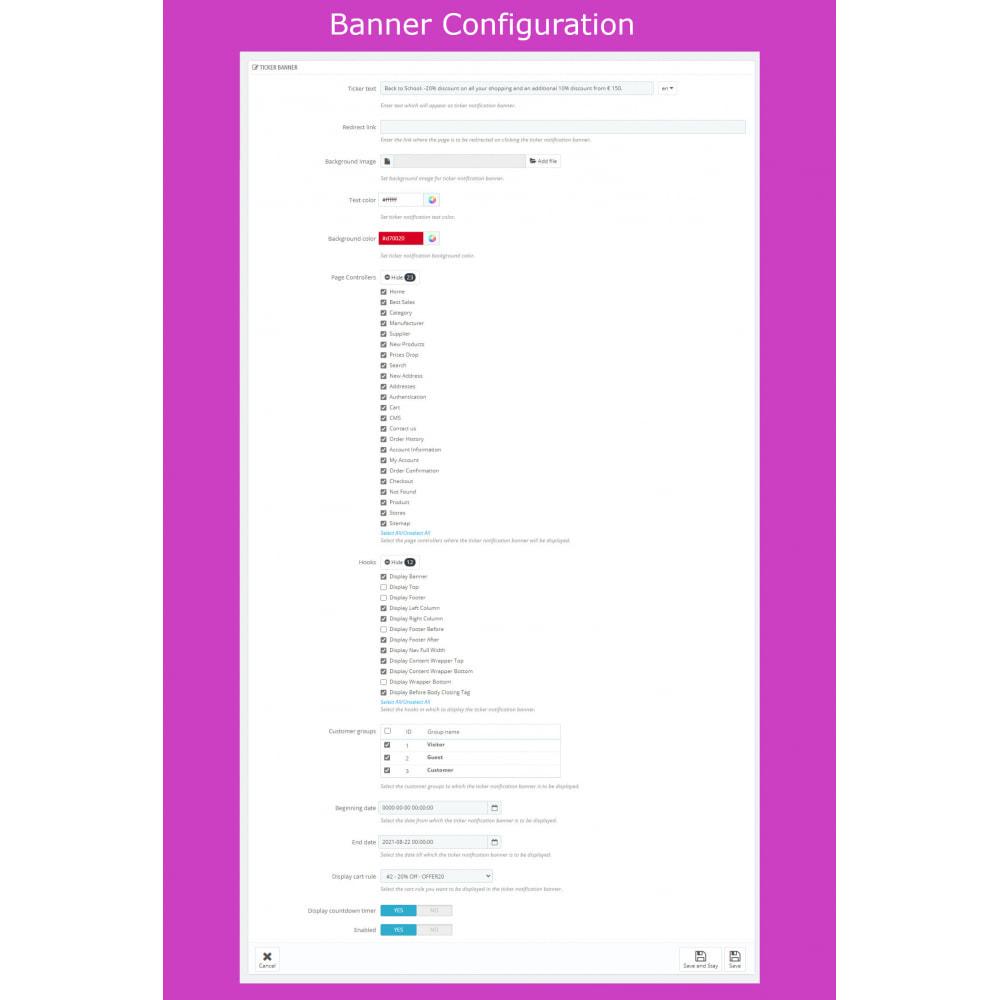 module - Sliders & Galleries - Advanced Ticker Notification Banner Slider - 10