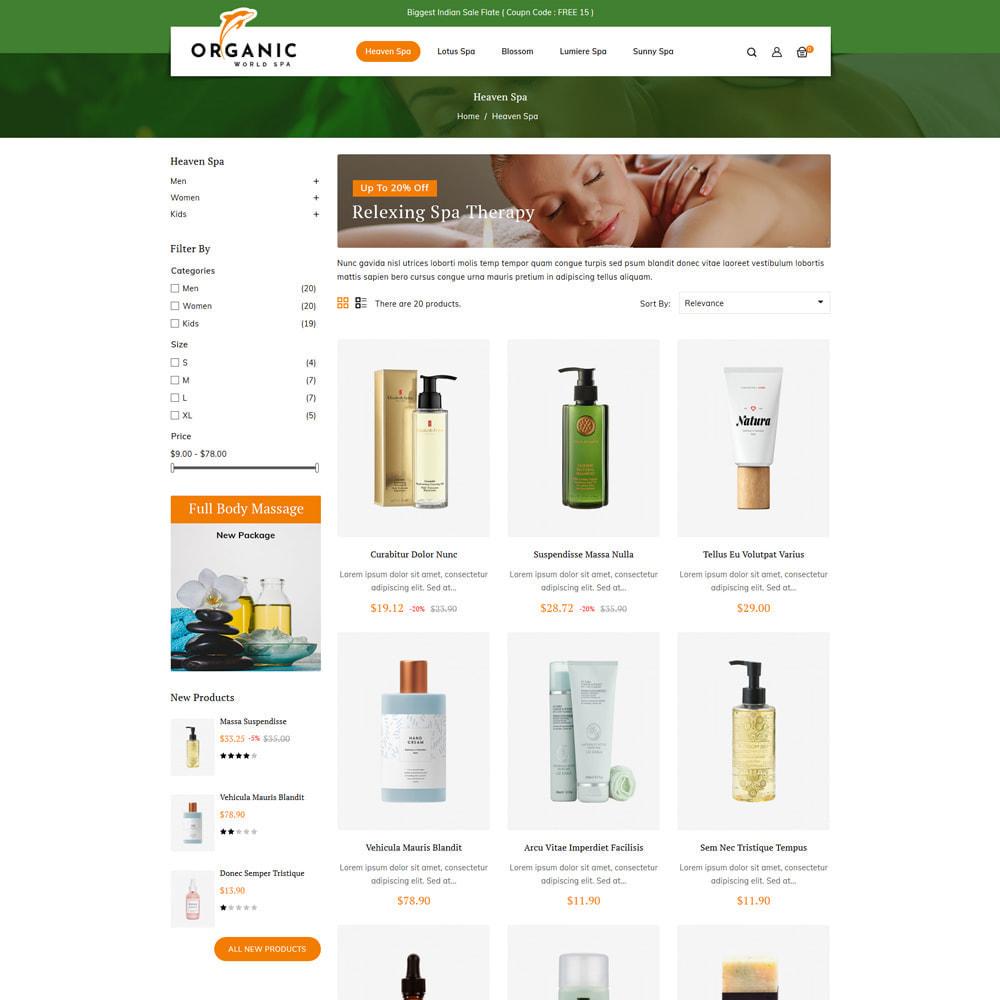 theme - Salud y Belleza - Organic World Spa & Beauty Store - 3