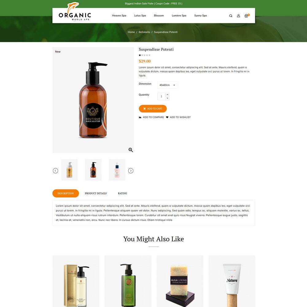 theme - Salud y Belleza - Organic World Spa & Beauty Store - 4
