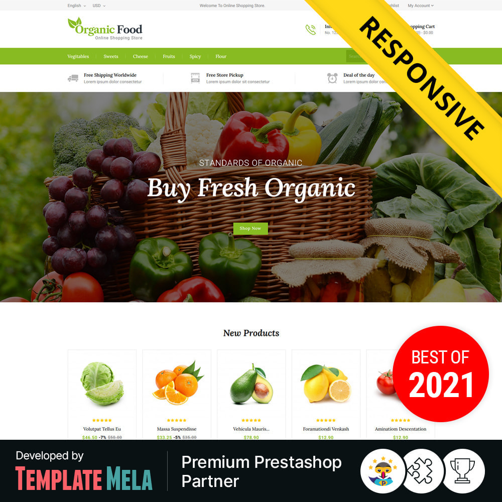 theme - Eten & Restaurant - Organic Food & Restaurant Store - 1