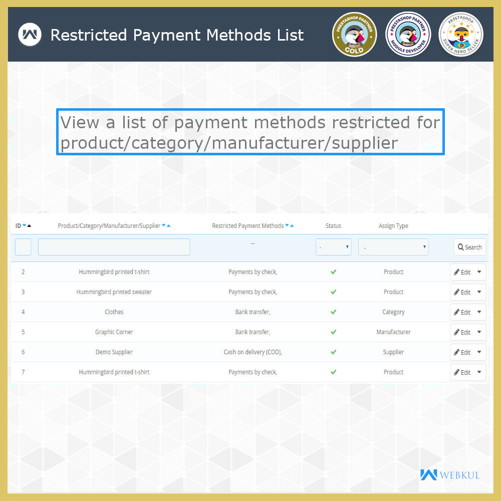 module - Pagamento - Payment Restrictions by Products/Categories/Groups - 4