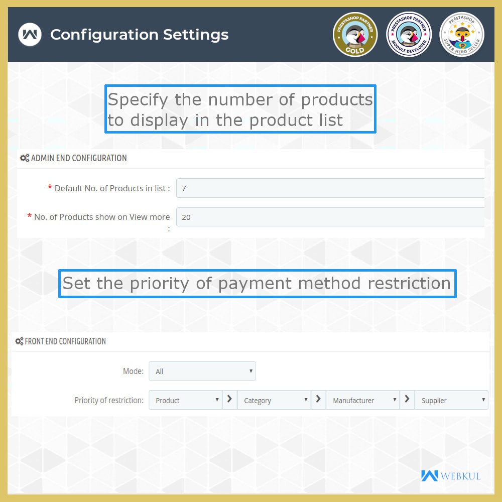 module - Pagamento - Payment Restrictions by Products/Categories/Groups - 6