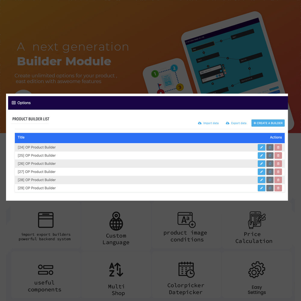 module - Combinations & Product Customization - Product Builder next generation - 3