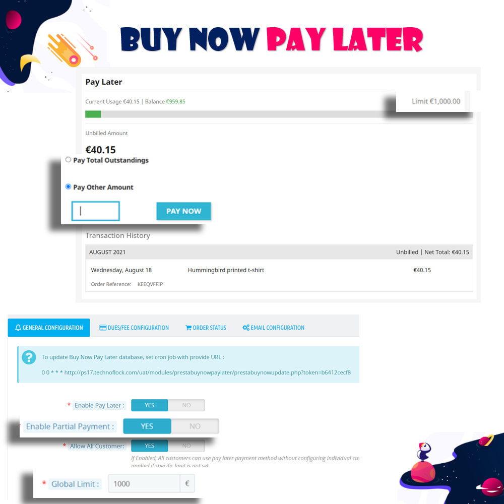 module - Andere Zahlungsmethoden - Buy Now Pay Later - Postpaid - 5
