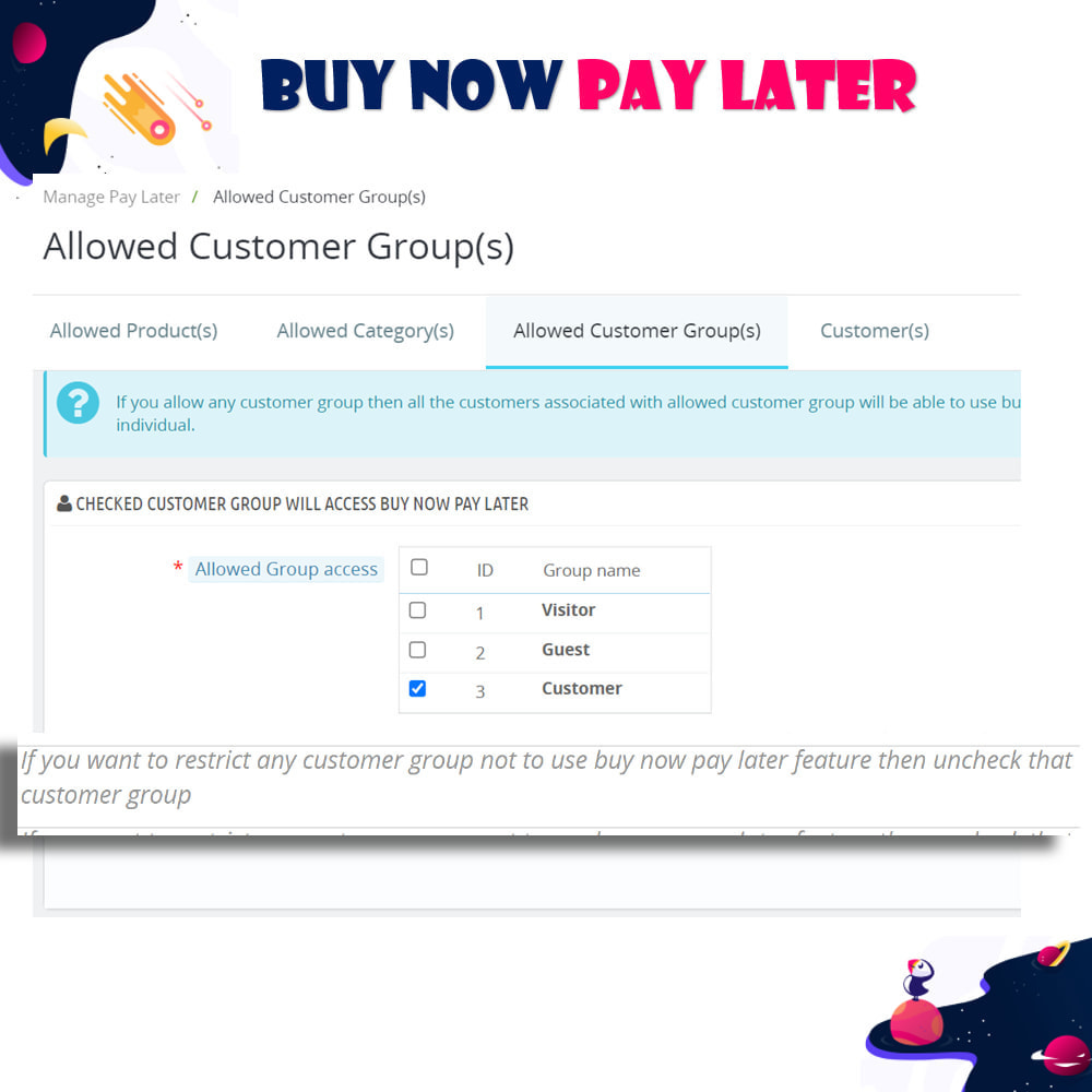 module - Andere Zahlungsmethoden - Buy Now Pay Later - Postpaid - 15