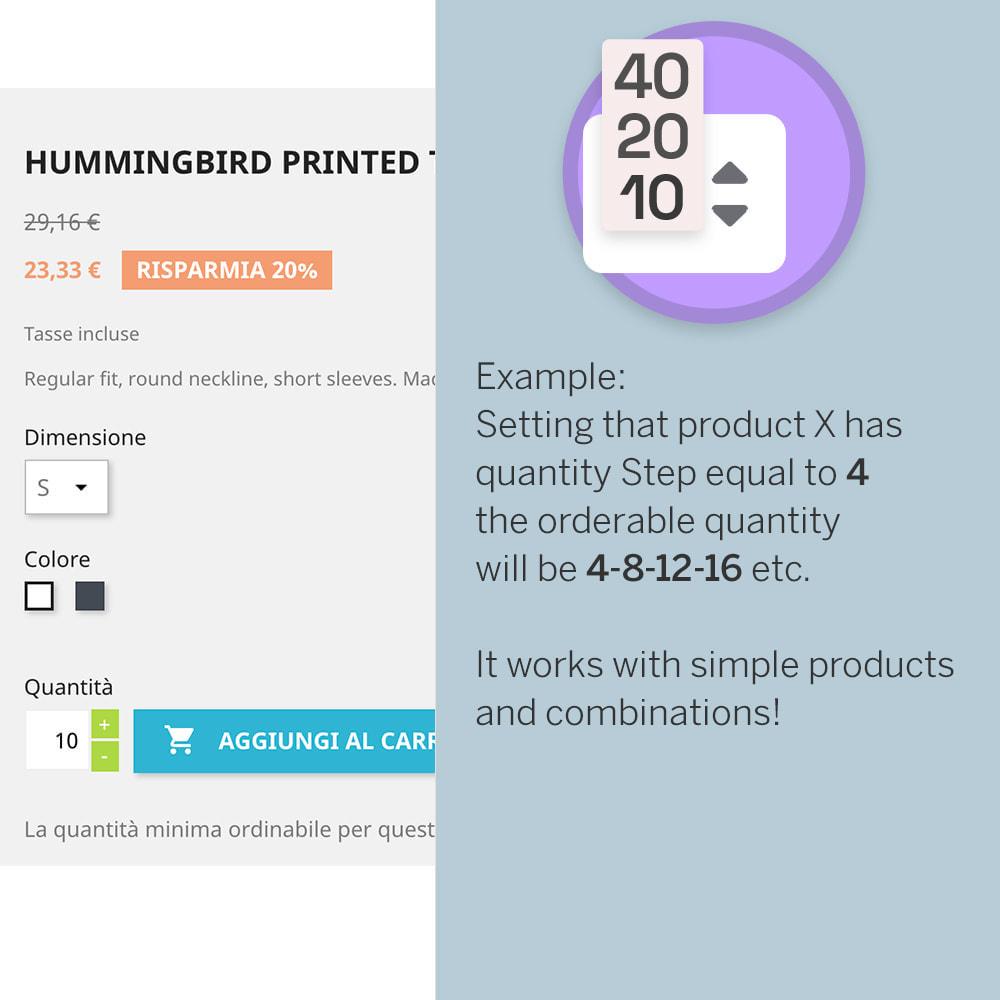 module - Combinaciones y Personalización de productos - Product Step Quantity - 2