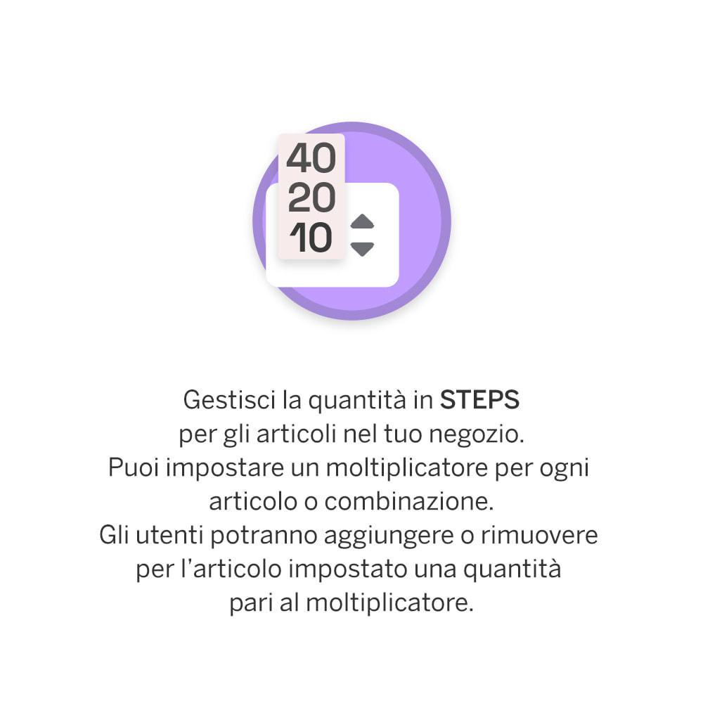 module - Combinazioni & Personalizzazione Prodotti - Quantità a Step - 1