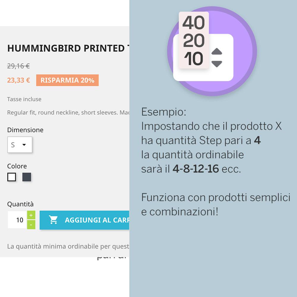 module - Combinazioni & Personalizzazione Prodotti - Quantità a Step - 2