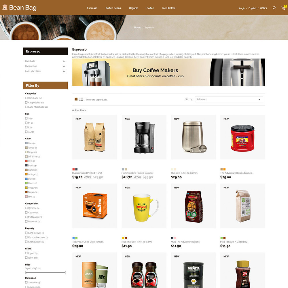 theme - Drink & Tobacco - Coffee Bean - Drink Organic Tea Store - 3