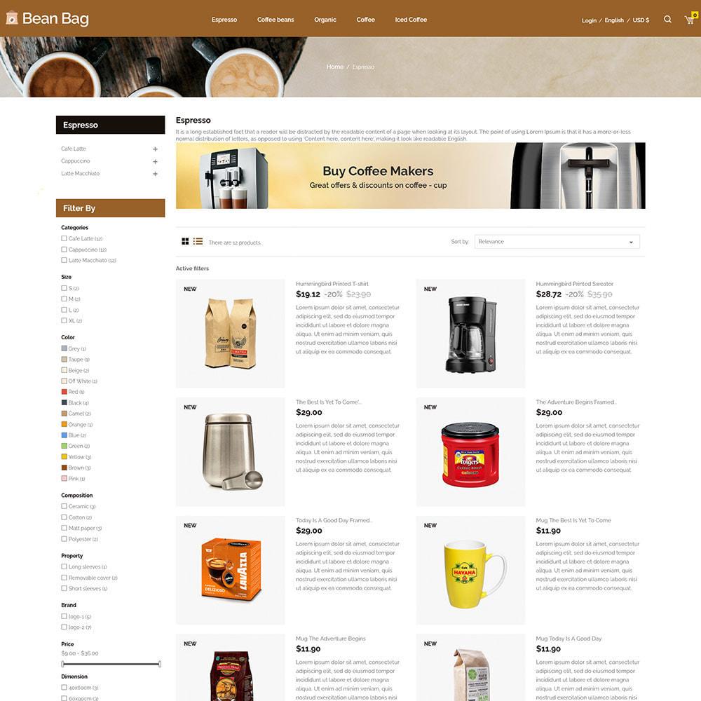 theme - Drink & Tobacco - Coffee Bean - Drink Organic Tea Store - 5
