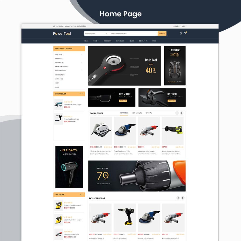 theme - Autos & Motorräder - PowerTool Store - Elementor Page builder - 2