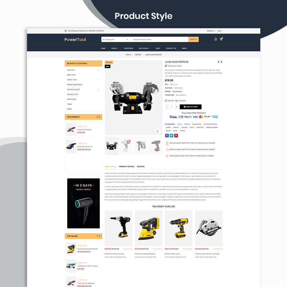theme - Autos & Motorräder - PowerTool Store - Elementor Page builder - 4