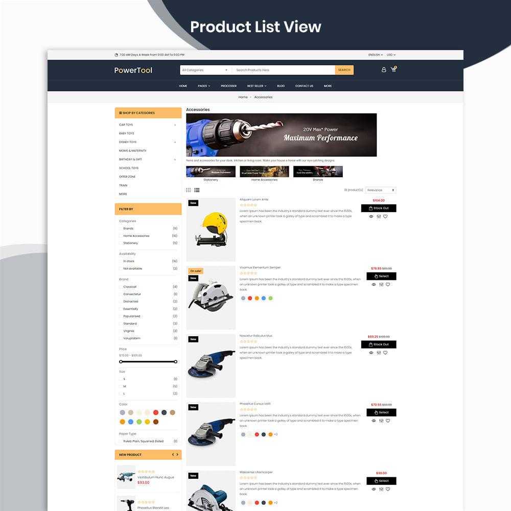 theme - Autos & Motorräder - PowerTool Store - Elementor Page builder - 5