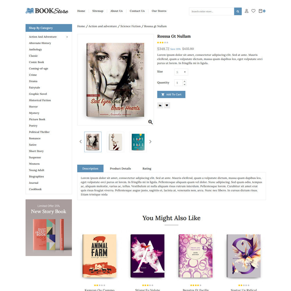 theme - Art & Culture - Books & Stationery Store - 4