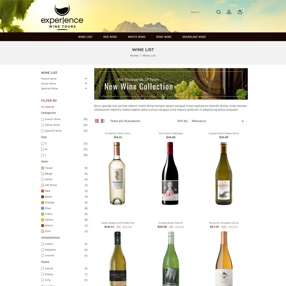 theme - Getränke & Tabak - Experlence - Wine & Drink Store - 3