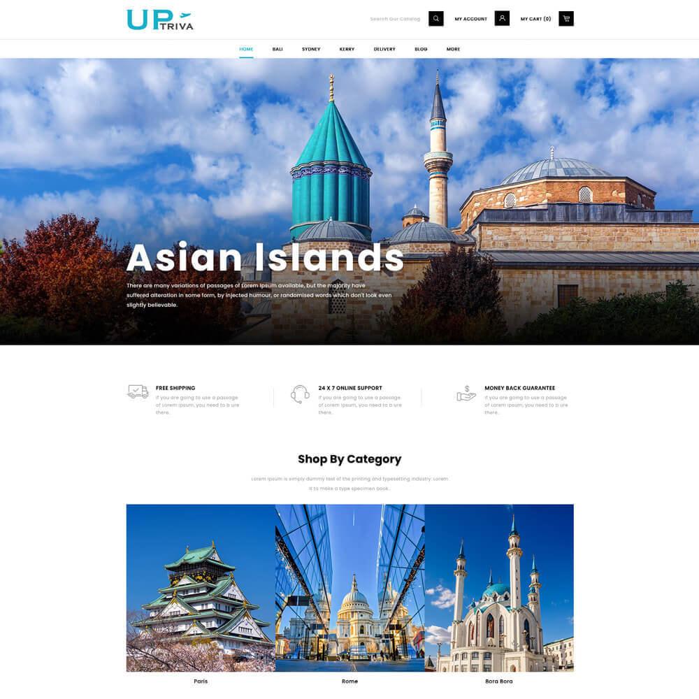 theme - Deportes, Actividades y Viajes - UPTrive - Travel Store - 2