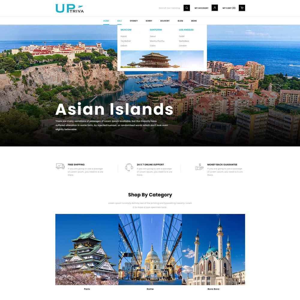 theme - Deportes, Actividades y Viajes - UPTrive - Travel Store - 3