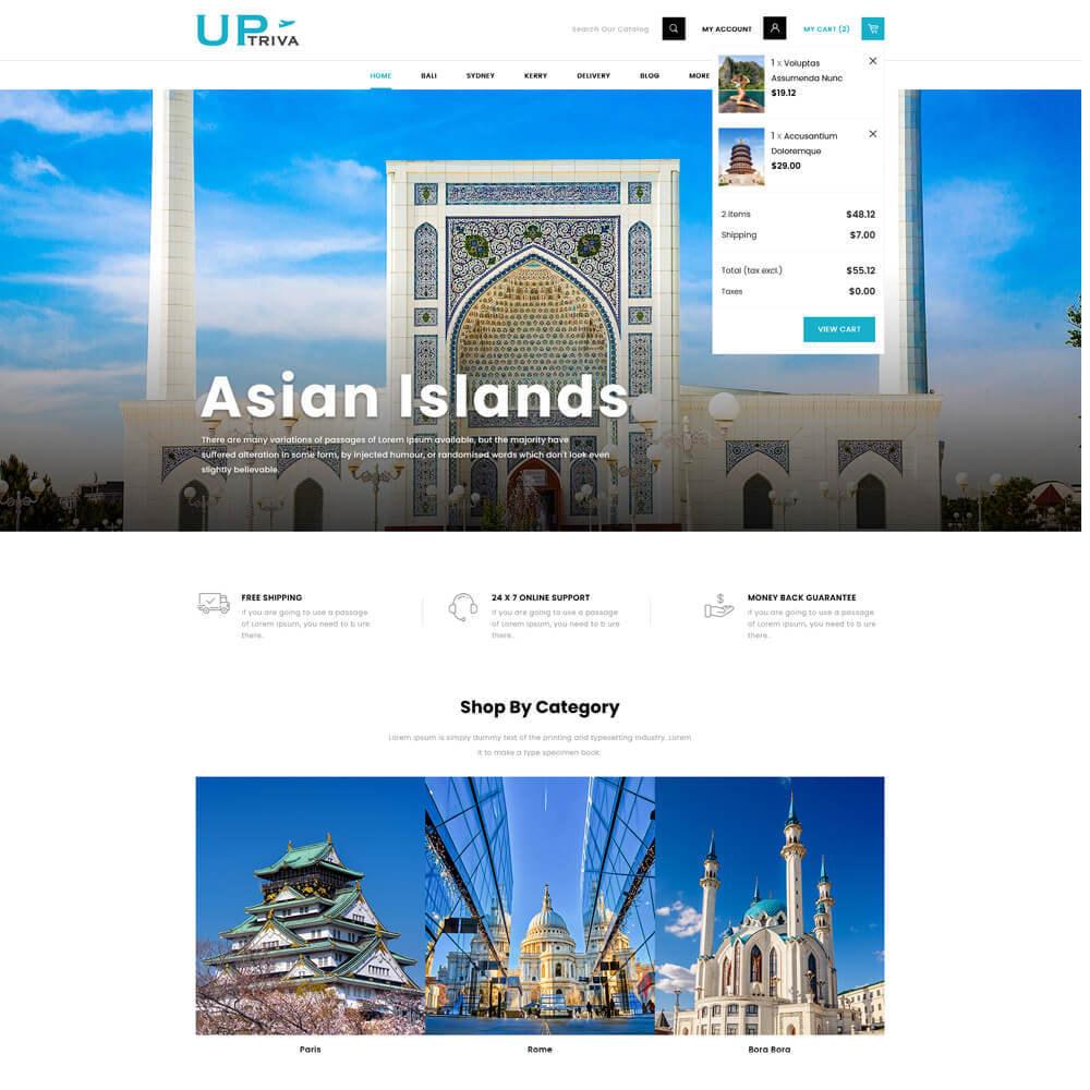 theme - Deportes, Actividades y Viajes - UPTrive - Travel Store - 4