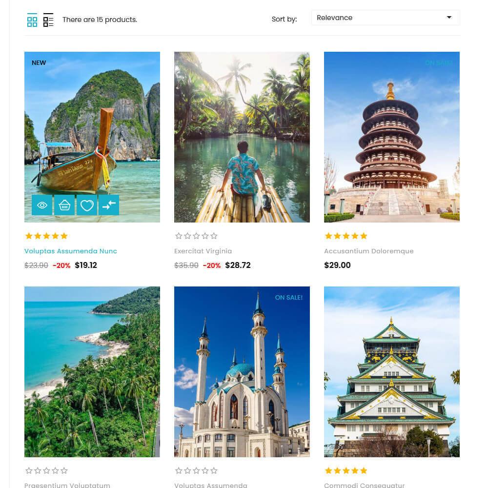 theme - Deportes, Actividades y Viajes - UPTrive - Travel Store - 5