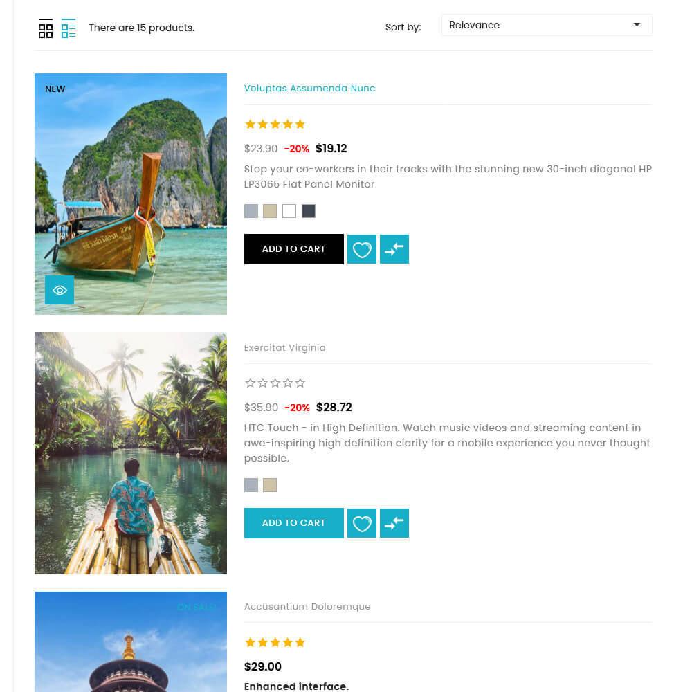 theme - Deportes, Actividades y Viajes - UPTrive - Travel Store - 6