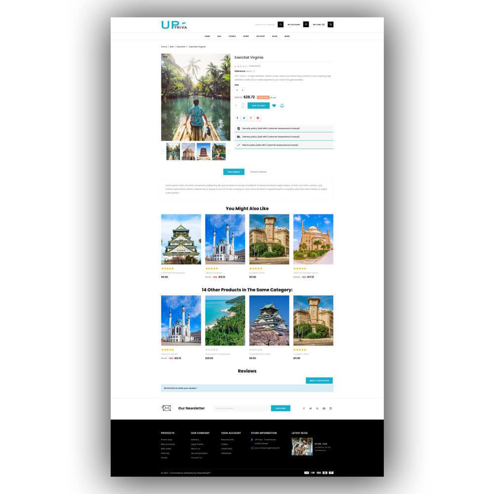 theme - Deportes, Actividades y Viajes - UPTrive - Travel Store - 7