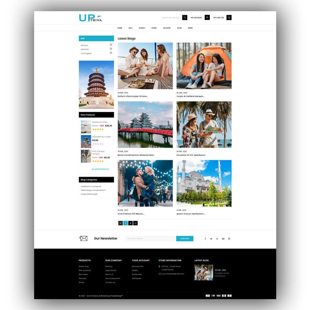 theme - Deportes, Actividades y Viajes - UPTrive - Travel Store - 8