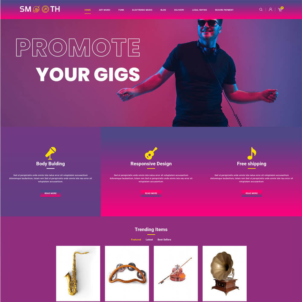 theme - Art & Culture - Smooth - Music store - 2