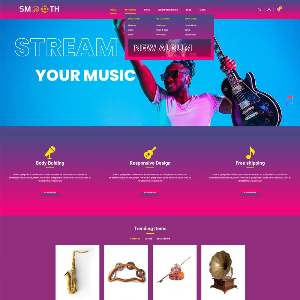 theme - Art & Culture - Smooth - Music store - 3