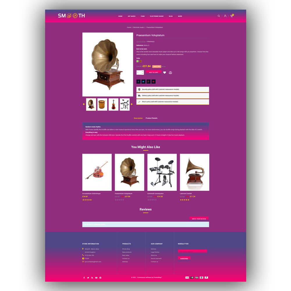 theme - Art & Culture - Smooth - Music store - 7