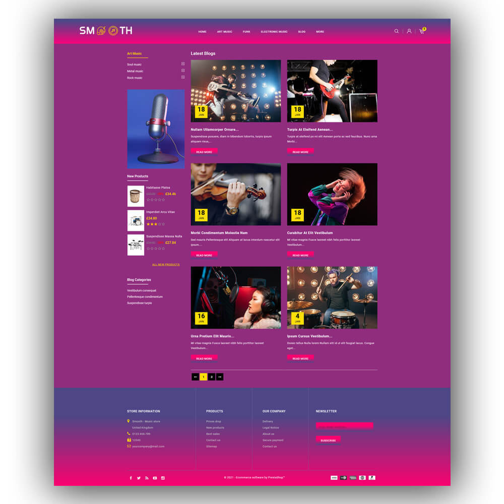 theme - Art & Culture - Smooth - Music store - 8