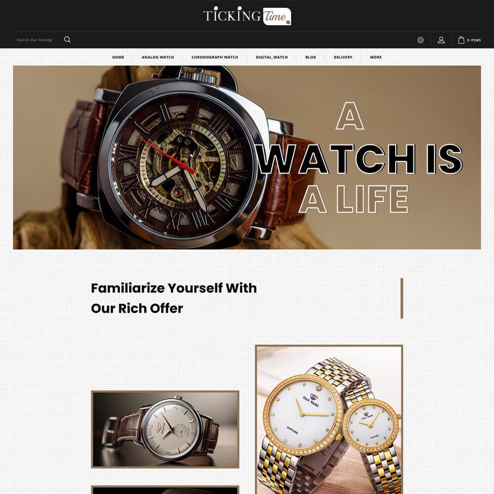 theme - Fashion & Shoes - Ticking - Watch Store - 2