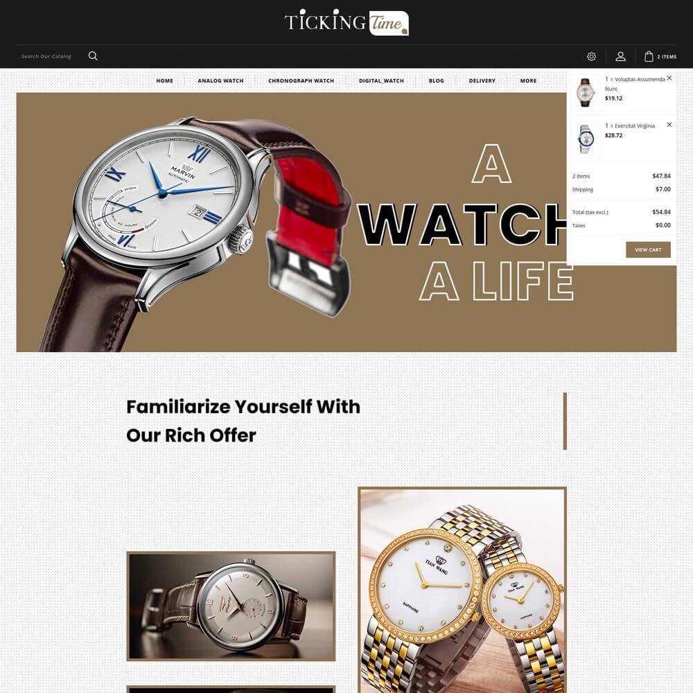 theme - Fashion & Shoes - Ticking - Watch Store - 4