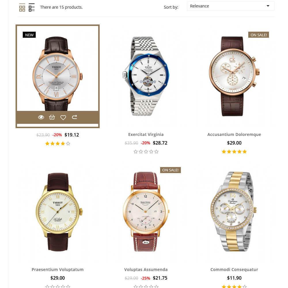 theme - Fashion & Shoes - Ticking - Watch Store - 5