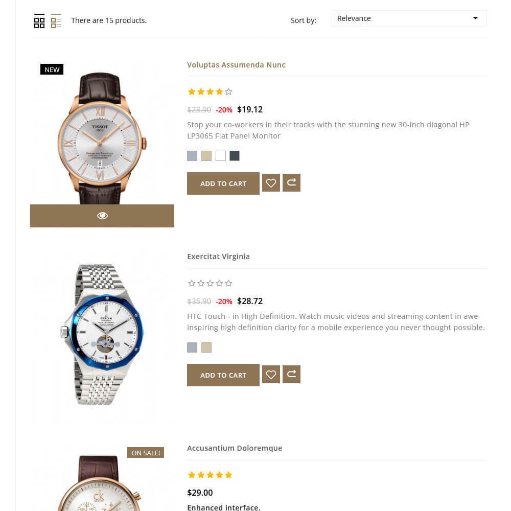 theme - Fashion & Shoes - Ticking - Watch Store - 6