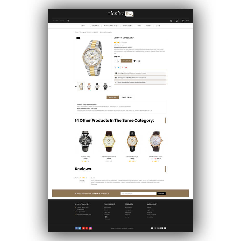 theme - Fashion & Shoes - Ticking - Watch Store - 7