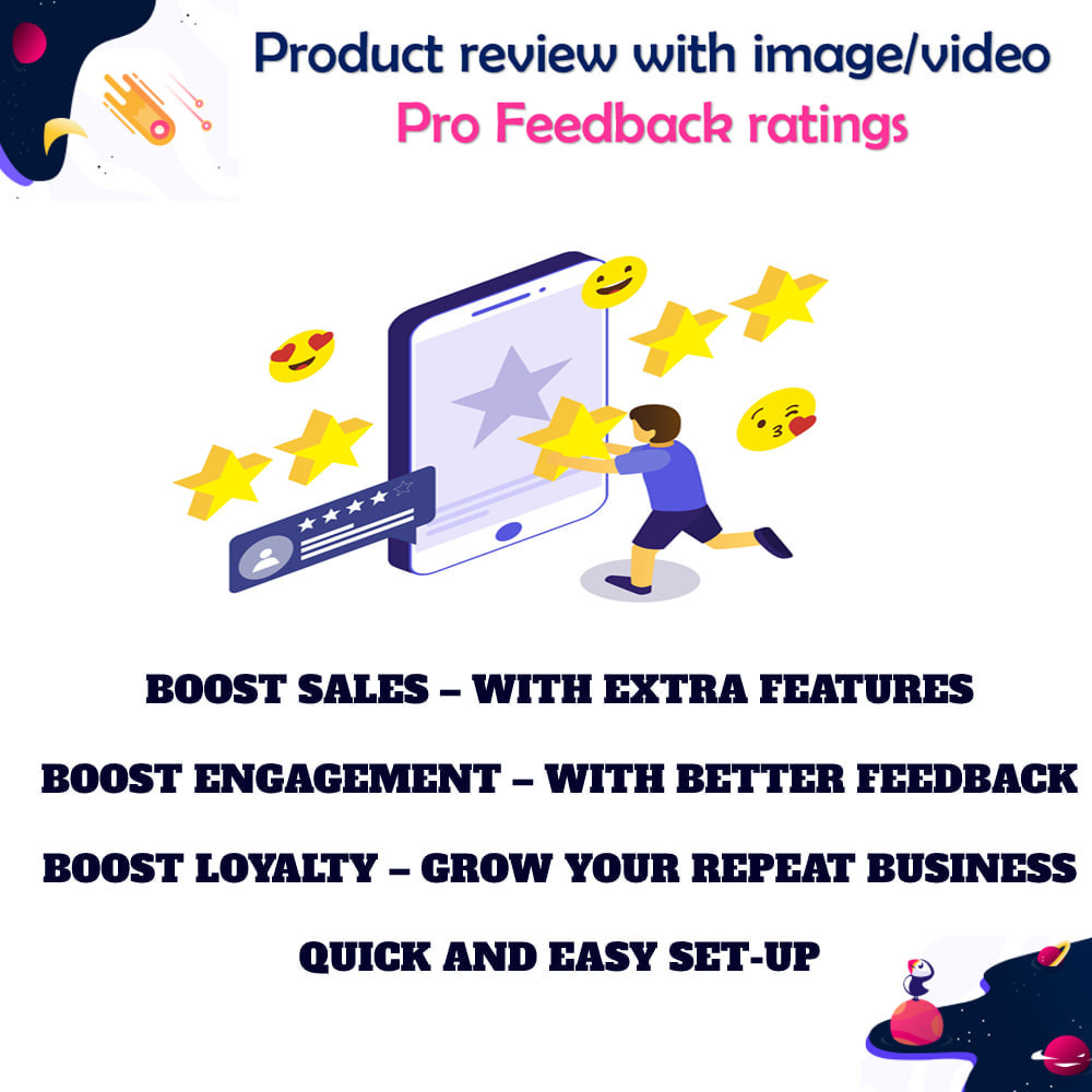 module - Customer Reviews - Product review with image/video Pro Feedback ratings - 1