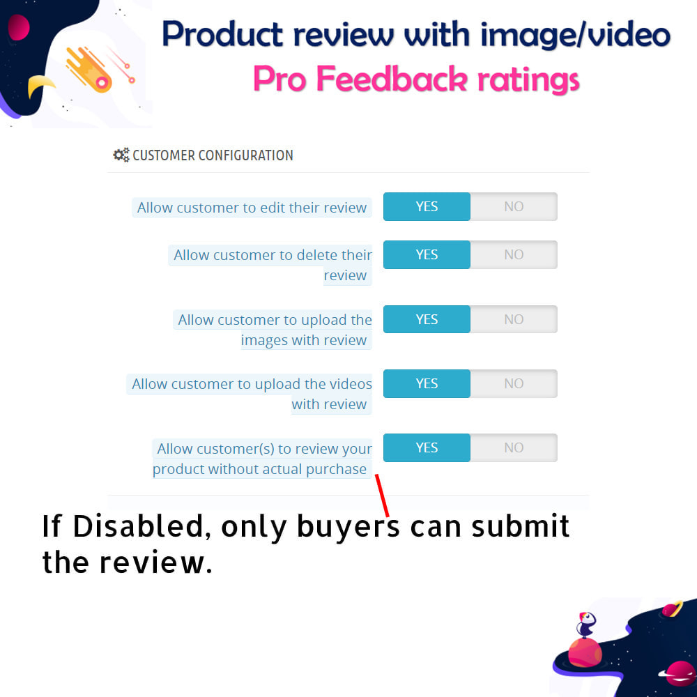 module - Customer Reviews - Product review with image/video Pro Feedback ratings - 7